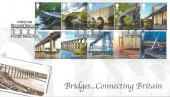 2015 Bridges Connecting Britain, Harriet's Collection Official HC04 FDC, Pulteney Bridge Bath H/S.