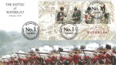 2015 Battle of Waterloo Miniature Sheet, Harriet's Collection Official HC10M FDC, 200th Anniversary Battle on Waterloo No.1 London H/S.