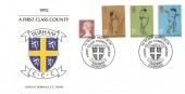 1992 Durham County Cricket Club Commemorative Cover, 1st Home Match in First Class County Cricket Durham H/S.