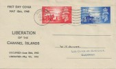 1948 Channel Island Liberation, Display FDC, Guernsey Cancel.