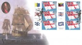 2005 White Ensign Generic Smilers Sheet, Pair of Buckingham Victory at Trafalgar FDC's, Horatio Nelson Burnham Thorpe King's Lynn H/S.