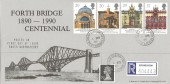 1990 Europa, Registered Stan Muscroft Centennial of the Forth Bridge FDC, South Queensferry West Lothian cds.