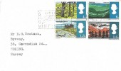 1966 British Landscapes, Plain FDC, Guildford Surrey County Show Whit - Monday Guildford Slogan.