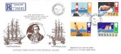 1985 Safety at Sea, Registered Illustrated FDC, Marton in Cleveland Middlesbrough cds