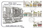 1980 Liverpool & Manchester Railway, Cotswold TPO FDC, East Anglian UP TPO cds.