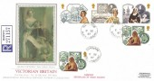 1987 Victorian Britain, Registered PPS Silk No.34 FDC, Bamburgh Northumberland cds, Birthplace of Grace Darling.