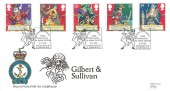 1992, Gilbert & Sullivan, RNLI Official FDC No.112, 150th Anniversary Sir Arthur Sullivan Pirates of Penzance Cornwall H/S.