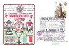 1977 British Wildlife, Dawn Manchester United Football FDC, 9p Stamp Only, Manchester United FA Cup Winners into Europe Manchester H/S.