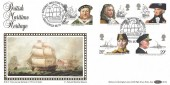 1982 Maritime Heritage, Official Benham BLS4 FDC, National Maritime Museum Greenwich SE10 H/S.