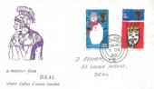 1966 Christmas, Deal Julius Caesar FDC, Deal Kent cds