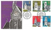 1972 Village Churches, Thames FDC, First Day of Issue Canterbury H/S.