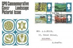 1966 British Landscapes (Phosphor) FDC,  Philatelic Bureau EC1 H/S