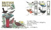 1966 British Birds, Coloured Stuart FDC, Liverpool FDI.
