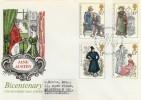 1975 Jane Austen on Benham Woodcut Steventon FDC H/S FDC