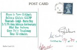 1991, 50th Anniversary of Amy Johnson's Last Flight, Raflet Card G5, Belfairs Leigh on Sea Essex cds, Signed.