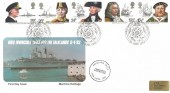 1982 Maritime Heritage, Presentation Philatelic Services FDC, First Day of Issue Portsmouth H/S, Falkland Isles Liberated 15th June 1982 Cachet