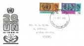 1965, United Nations & International Co-operation Year, Illustrated FDC, London WC FDI.