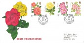 1976 Roses, Illustrated FDC, Year of the Rose Northampton H/S.