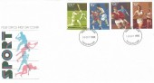 1980, Sporting Anniversaries, Post Office FDC, Twickenham FDI.