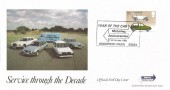 1982 British Motor Cars, Set of 4 Havering Official FDC's, Year of the Car 1982 Motoring Anniversaries Woodford Green Essex H/S.