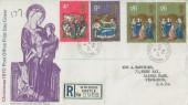 1970 Christmas, Registered Post Office FDC, Windsor Castle Windsor Berks. cds.