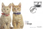 2001, Cats & Dogs, Set of 5 Westminster Cat FDC's, Battersea London SW8 H/S.