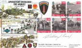 1994, D Day, Forces Official FDC, Sword Beach BF 2416 PS H/S, Signed by The Hon. William Crowe Jnr. US Ambassador to the Court of St. James.