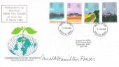 1983 Commonwealth, Royal Mail FDC, Windsor Berks.FDI, Signed by Donald Hamilton Fraser Stamp Designer.