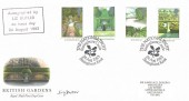 1983 British Gardens, Royal Mail FDC, The National Trust Sissinghurst Castle Kent H/S, Signed by Liz Butler Stamp Designer.
