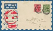 1934, King George V 1d Scarlet Photogravure, Illustrated Flight FDC, Liverpool cds.