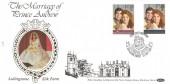 1986 Royal Wedding, Benham L4 Official FDC, Loyal Greetings From Lullington Silk Farm Sherborne Dorset H/S.