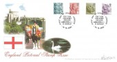 2003 England Pictorial Stamp Issue, 2nd, 1st, E, 68p, Bradbury Windsor Series No.7 FDC, Cry 'God for Harry England & St. George!' London H/S.
