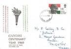 1969 Gandhi Centenary, Illustrated FDC, Exeter FDI.