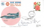 1976 Roses, Blue Herons Royal Naval Air Station Yeovilton FDC, 8½p stamp only, Yeovil Somerset FDI, Signed by Members of the Aerobatics Team.