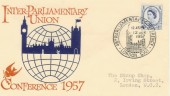 1957 46th Inter-Parliamentary Conference London SW1 H/S FDC