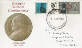 1965, Joseph Lister, Illustrated FDC, London WC FDI