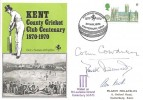 1970, Kent County Cricket Club Centenary 1870 - 1970 Pilgrim Commemorative Cover, Kent Cricket Centenary Canterbury Kent H/S, signed