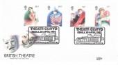 1982, British Theatre, Royal Mail FDC, Theatr Clwyd Ebrill Yr Wyddgrug/Mold H/S