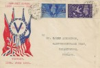 1946, KGVI Victory, Peace & Victory Illustrated FDC, Maida Hill W9 cds