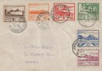 1942 - 1943, Jersey Views Plain Cover dated 3 times on First Day, Jersey Channel Islands cds