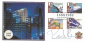 1988 Transport & Communications, Covercraft Lloyd's of London Official FDC, Lloyd's of London 1688-1988 Tercentenary London EC3 H/S, Signed by Sir Richard Rogers, architect.