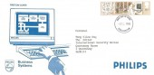 1982 Information Technology, Philips Business System FDC, 15½p Stamp Only, Colchester FDI