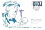 1967 British Discoveries, Sir Alexander Fleming FDC, 1/- Penicillin Stamp, Darvel Ayrshire cds