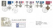 1990, Gallantry, Registered Royal Mail FDC, Buckingham Palace SW1 cds.