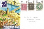 1970 Philympia, Connoisseur FDC, Remember to use the Postcode Slogan Huntingdon.