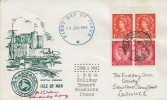 1964, 2s Holiday Resort Booklet Pane, Castle Rushen Isle of Man FDC, London WC cds.
