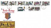 1966 Battle of Hastings, Connoisseur FDC, Torcross Kingsbridge Devon cds