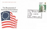 1976 USA Bicentenary, Post Office FDC, 58th Philatelic Congress of Great Britain Plymouth Devon H/S.