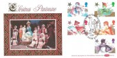 1985 Christmas, Benham BLCS8 Official FDC, Mother Goose Pantomime Famous for Over 250 Years Biddenden Ashford Kent H/S.