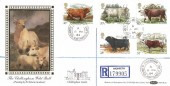 1984, British Cattle, Registered Benham Silk BLS2 FDC, Chillingham Alnwick Northumberland cds